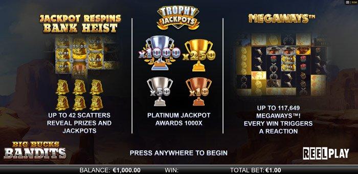 Play Big Bucks Bandits Megaways for free in demo mode
