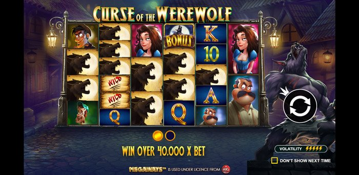 Play Curse of the Werewolf for free in demo mode