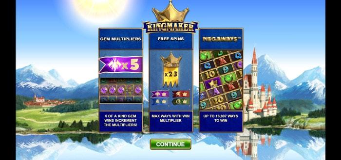 Kingmaker Megways Slot