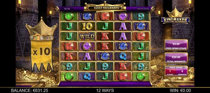 Kingmaker Megaways Free Spins bonus
