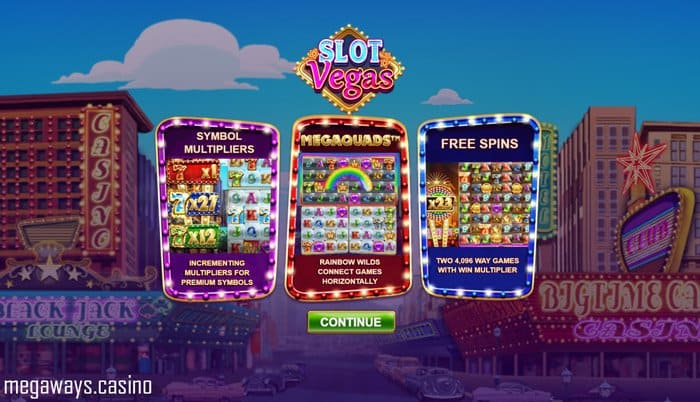 Play Slot Vegas Megaquads for free in Demo Mode