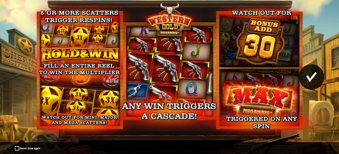 Play Western Gold Megaways for free in demo mode