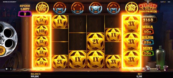 Western Gold Megaways Bonus Rounds