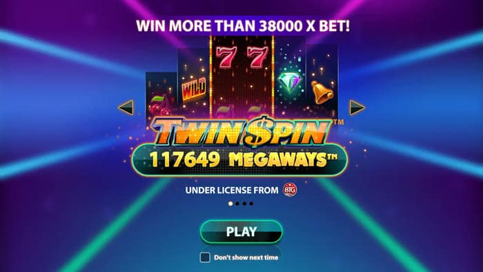 Play Twin Spin Megaways slot for free
