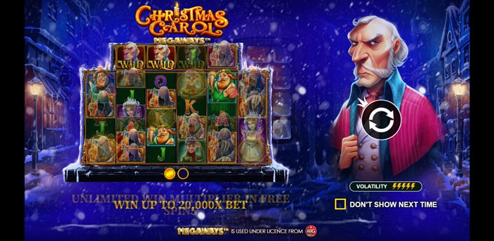Play Christmas Carol Megaways for free in demo mode