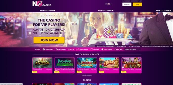 No Bonus Casino 10% Cashback