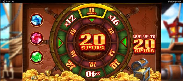 Pirates Bounty Megaways free spins bonus wheel