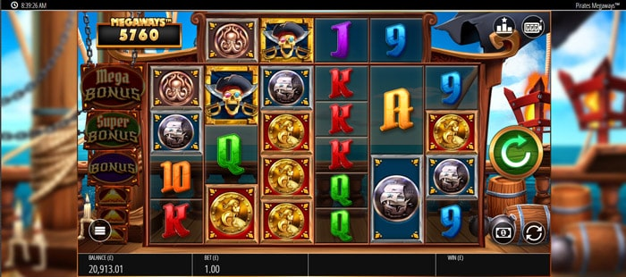 Play Pirates Bounty Megaways for free in demo mode