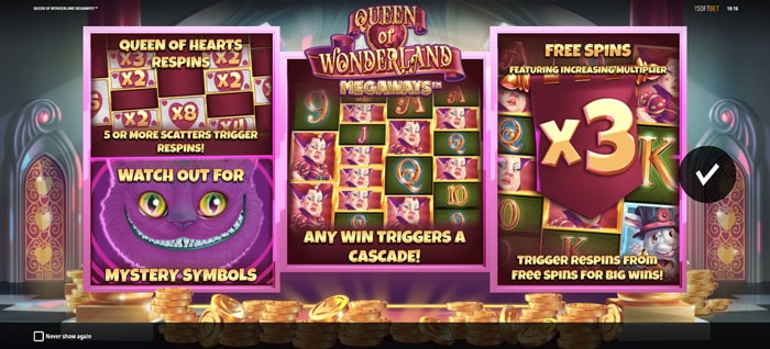 Play Queen of Wonderland Megaways for free in demo mode