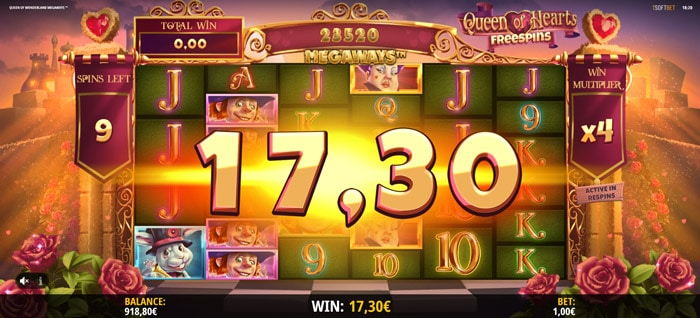 Queen of Hearts Free spins