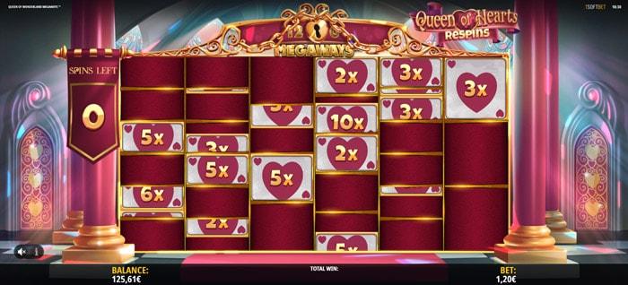 Queen of Wonderland Megaways Re Spins feature
