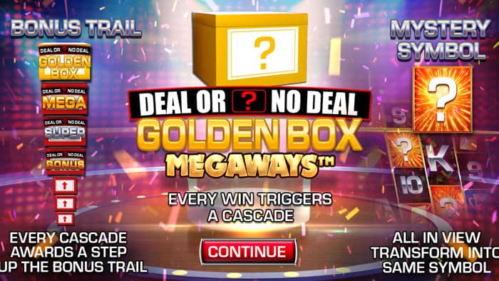 Play Deal or No Deal Megaways: The Golden Box for free in demo mode