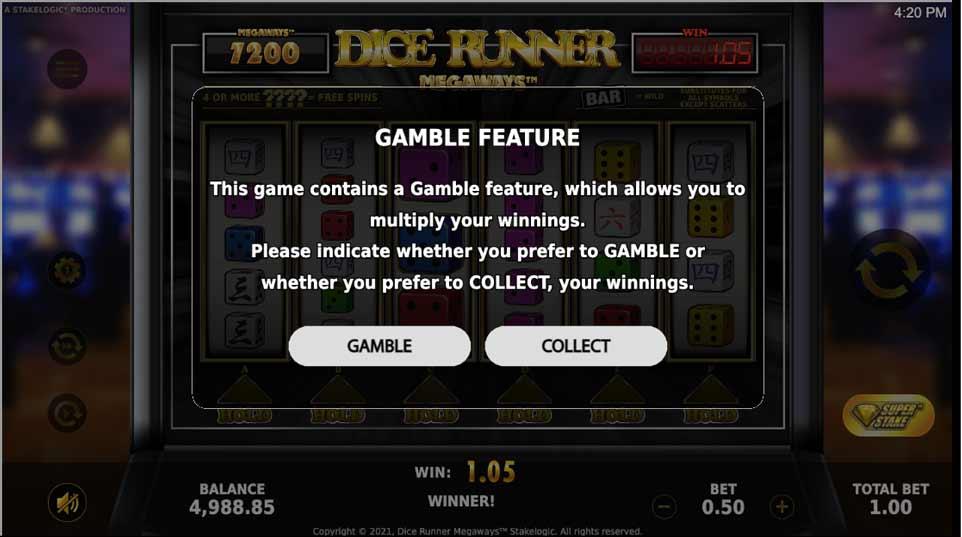 Dice Runner Megaways Gamble1