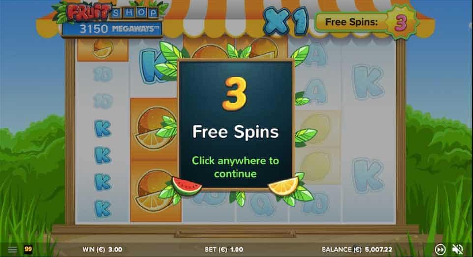 Fruit Shop Megaways Free Spins 2
