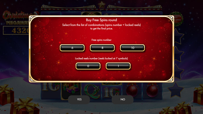 Christmas Megaways Buy a Bonus Feature