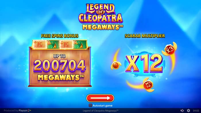 Play Legend of Cleopatra Megaways for free in demo mode