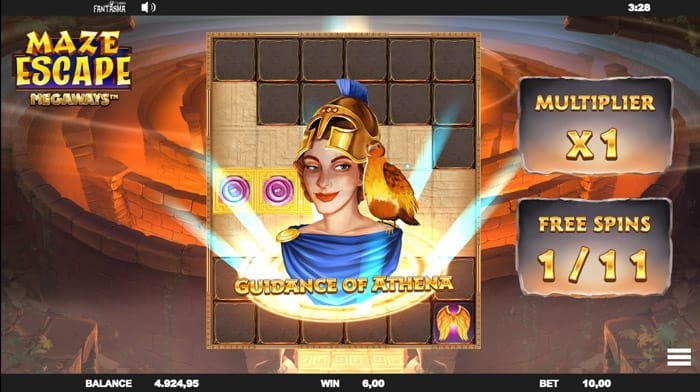 Maze Escape Megaways Guidance of Athena Feature