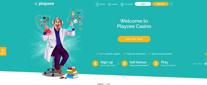 PlayZee Casino Homepage