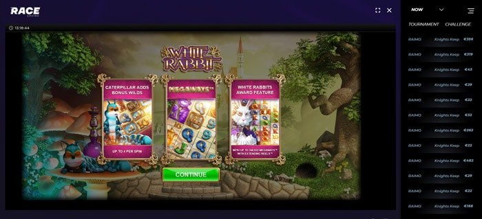 Race Casino Megaways Slots like White Rabbit Megaways