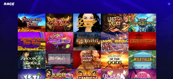 Race Casino Game selection