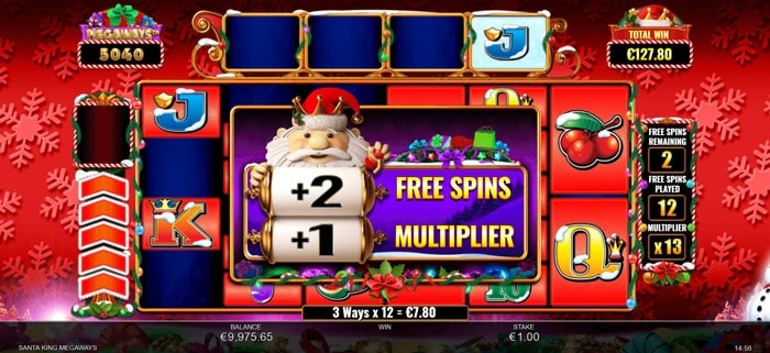 Santa King Megaways Free Spins Bonus Round