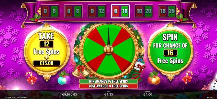 Santa King Megaways gamble feature