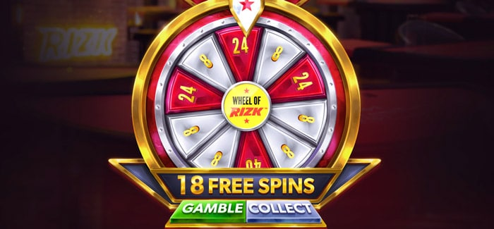 Wheel of Rizk bet feature