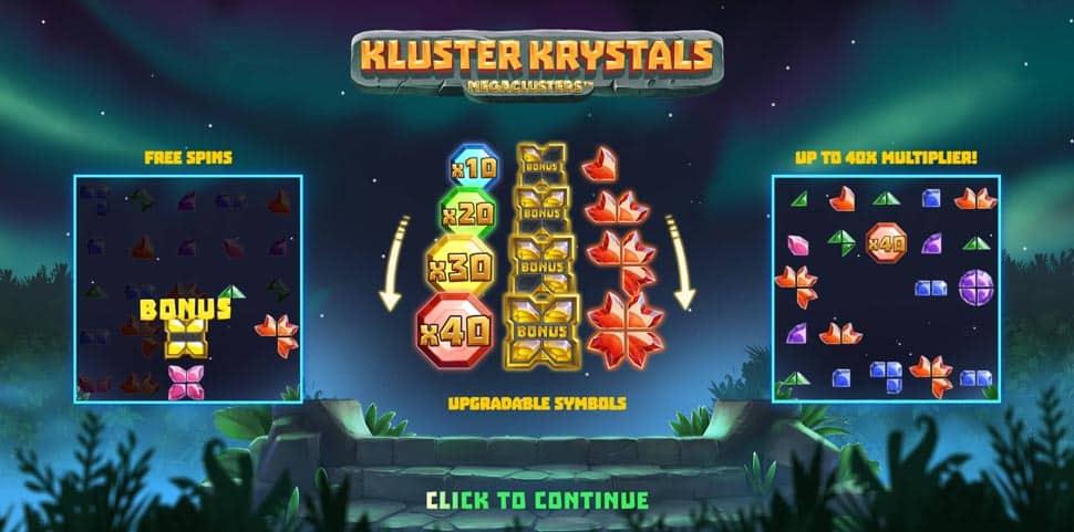 Play Kluster Krystals Megaclusters for free in demo mode
