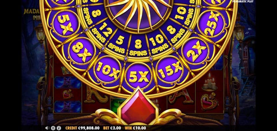 Madame Destiny Bonus Wheel