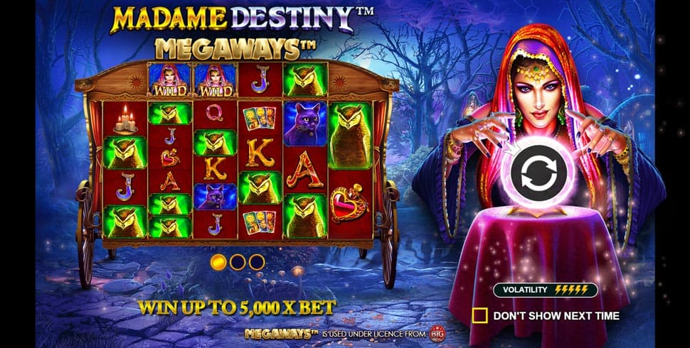 Play Madame Destiny Megaways for free in demo mode