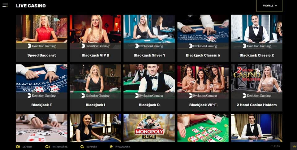 Hyper Casino Table Games and Live Casino