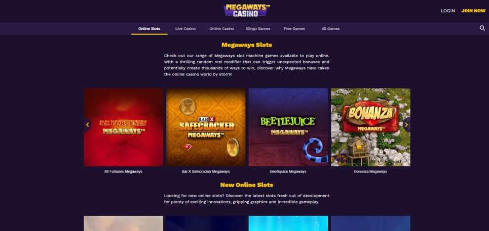 Megaways Slots at Megaways Casino